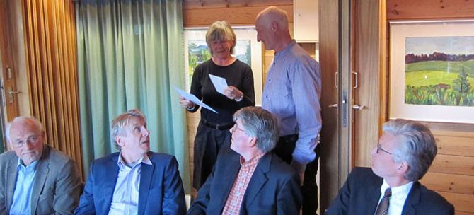 Lars Vaagland mottok prisen på vegne av Siljan Historielag. Prisutdeler var Ellen Schrumpf frå Telemark Historielag